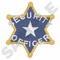 Security Officer Badge Embroidery