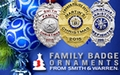 Smith & Warren Family Mini Badge Ornaments