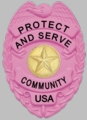 Smith & Warren Pink S155 Badge
