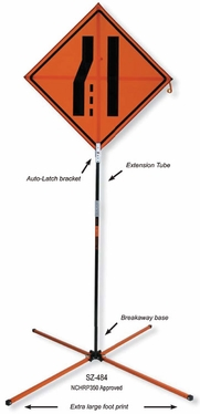 Springless Extended Use Tall Sign Stand