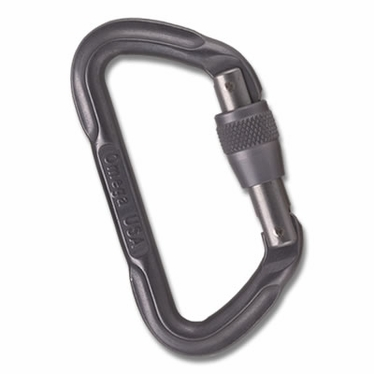 Standard Locking D Carabiner Stone Grey