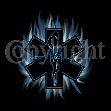 Star of Life with Blue Flame