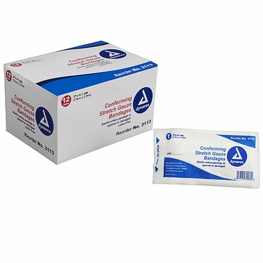 """Stretch Gauze Bandage Roll Sterile 3"""" (96 count)"""