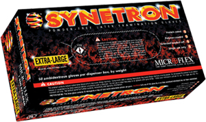 Microflex Synetron Powder Free Latex Extended Cuff Gloves