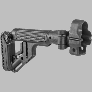 TACTICAL FOLDING BUTTSTOCK W/CHEEKPIECE FOR MP5 - POLYMER LOCK - UAS-MP5