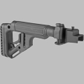 TACTICAL FOLDING BUTTSTOCK W/CHEEKPIECE & STEEL GALIL HINGE FOR AK-47/74
