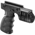 "TACTICAL FOREGRIP WITH 1"" WEAPON LIGHT ADAPTER AND INTEGRATED REAR ON/OFF TRIGGER"