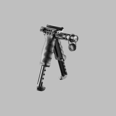 TACTICAL FOREGRIP WITH INTEGRATED ADJUSTABLE BIPOD AND INCORPORATED FLASHLIGHT - GEN 2