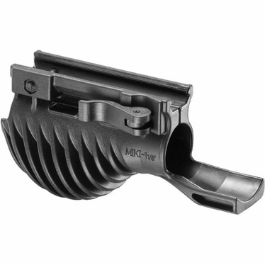 """TACTICAL HORIZONTAL FOREGRIP WITH 1 1/8"""" WEAPON LIGHT ADAPTER - MIKI 1 1/8"""