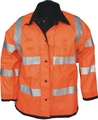 Thigh Length Police Raincoat Reversible Orange to Black