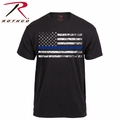 Rothco Thin Blue Line Black T-Shirt