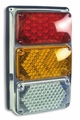 Weldon Tri: 4X6 Lamps: Incandescent Stop & Tail, Amber W/Arrow, Backup - Left Side