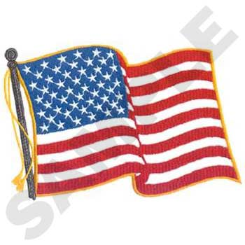 USA Flag Large Embroidery-Back Embroidery