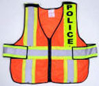 "V11 ANSI Class 2 Snap-Up Command Vest with High Contrast 4"" Reflective Stripes"