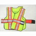 "V12-E Economy High Contrast Vest 5-Point Break-Away Vest with 4"" Striping"