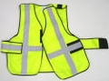 "V12-EZ Economy Vest 5-Point Break-Away Vest with 2"" Silver Striping"