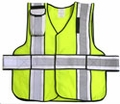 "V12-P Premium High Contrast Vest 5-Point Break-Away Vest with 4"" Striping"