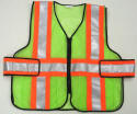 "V9-B Zipper Front ANSI Class 2 Command Vest with High Contrast 4"" Reflective Stripes"