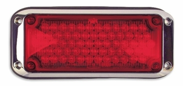 Weldon Weldon LED, 3x7 Red Warning Light with Bezel