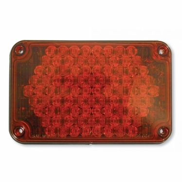 Weldon LED, 4X6 Warning, Panel, Red