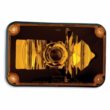 Weldon Lens Assy 4x6 Turn Arrow, Amber