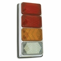 Weldon Quad: 4x6 LED Warning-Red, Stop & Tail, Amber Seq Turn, Backup w/Packard-Lh