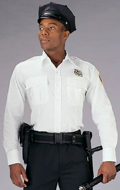 WHITE LONG SLEEVE GENUINE POLICE AND SECURITY ISSUE UNIFORM SHIRTS
