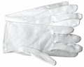White Parade Gloves with PVC Grip Dots and Vent Cuff