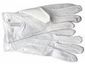 White Parade Gloves with Snap Closure