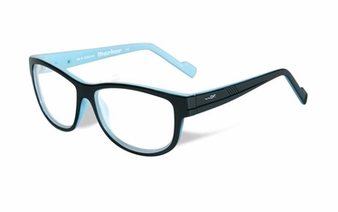 Wiley X Clear / Gloss Black w/Sky Blue Frame