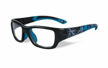 Wiley X Matte Black w/Lightning / Electric Blue Frame