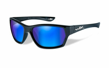 Wiley X Polarized Blue Mirror/Gloss Black