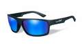 Wiley X Polarized Blue Mirror (Green)/Matte Black