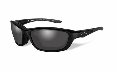 Wiley X Polarized Smoke Grey/Gloss Black