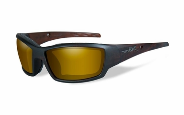 Wiley X Polarized Venice Gold Mirror (Amber)/Matte Hickory Brown