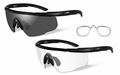 Wiley X Smoke Grey - Clear/2 Matte Black Frames w/RX Insert