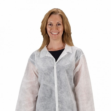 Zone Gard Lab Coat, No Pockets, 30/Case
