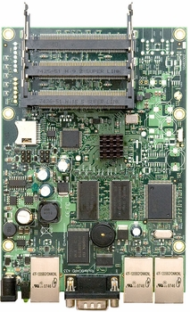 MIKROTIK RB/433AH ROUTERBOARD, 3 LAN / 3 MINI-PCI 680MHZ 128MB L5
