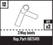 #12 - 3 Way Joints