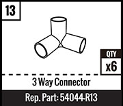 #13 - 3 Way Connector