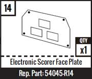 #14 - Electronic Scorer Face Plate