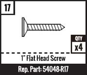 "#17 - 1"" Flat Head Screw"