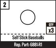 #2 - Self Stick Baseballs