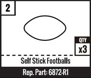 #2 - Self Stick Footballs