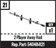 #21 - 2 Player Away Rod - Red