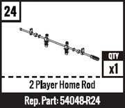 #24 - 2 Player Home Rod - Black