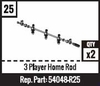#25 - 3 Player Home Rod - Black
