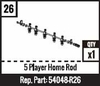 #26 - 5 Player Home Rod - Black
