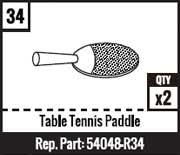 #34 - Table Tennis Paddle
