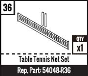 #36 - Table Tennis Net Set